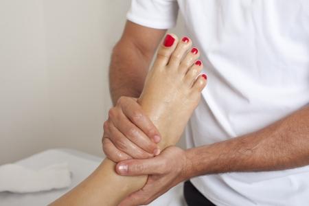 myofascial: Foot massage Stock Photo