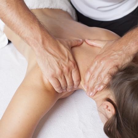 osteopathy: shoulder massage