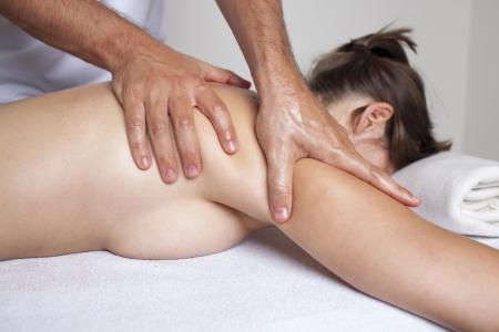 nacked: masage Stock Photo
