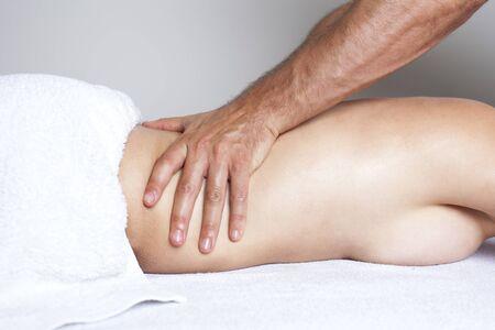 nacked: Female massage Stock Photo
