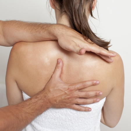 osteopathy: chiropractic care Stock Photo