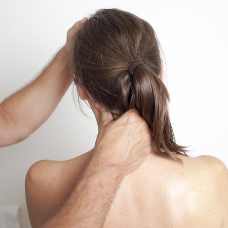 myofascial: chiropractic care Stock Photo