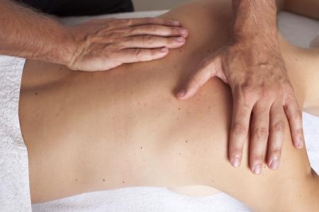 Female massage Stock Photo