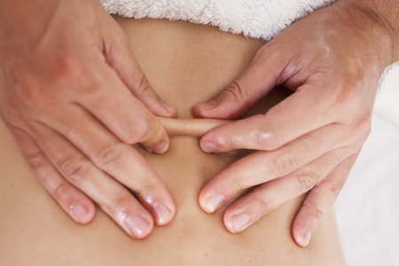 myofascial: Female myofascial therapy   Stock Photo