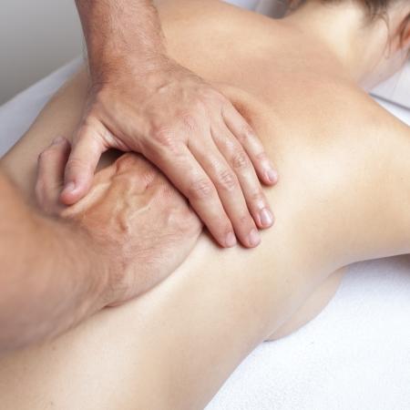 myofascial: Chiropractor exercising female myofascial therapy