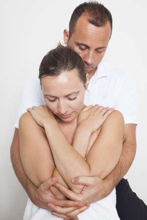 terapia ocupacional: osteopatía Foto de archivo