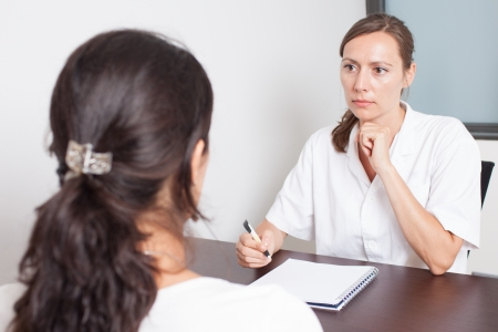 Visit to the gynecologist Stock Photo