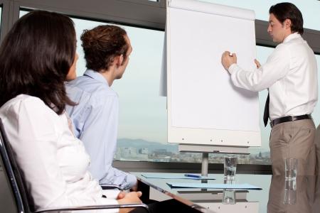 Training in board room photo