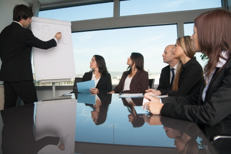 panoramic business: Training in board room
