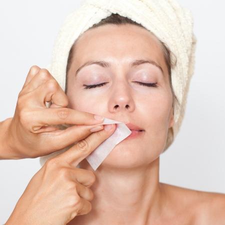 bleaching: Remove facial hair