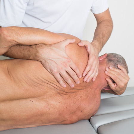 recuperating: Physicaltherapy with a senior