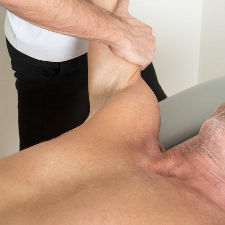 massage therapist: massage therapist working Stock Photo