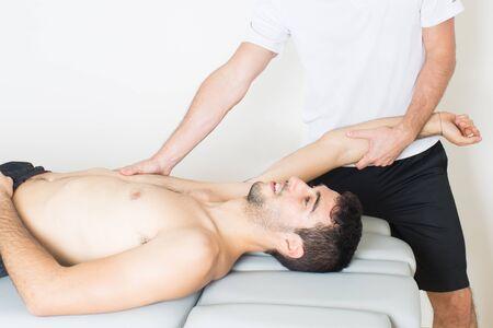 Arm stretching photo