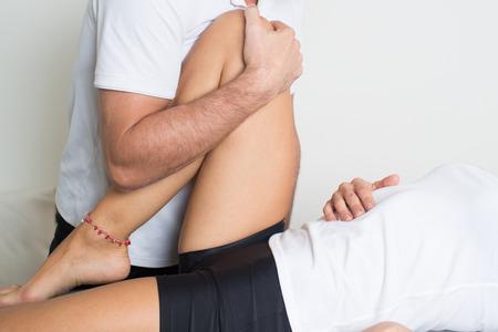 fisioterapia: osteopat�a Foto de archivo