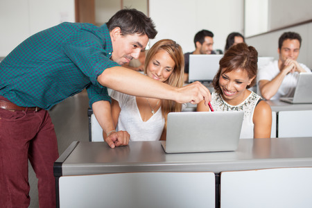 training: la formation d'ordinateur portable Banque d'images