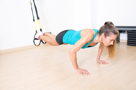 suspension: TRX exercise with legs