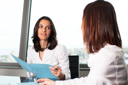 job interview: Hiring an new employee Stock Photo