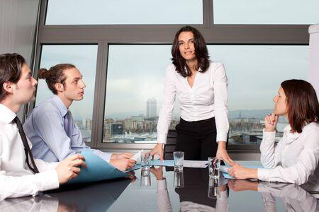 Brainstorming in boardroom photo