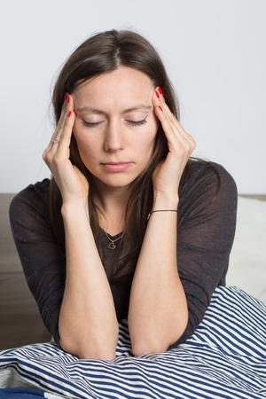 headache woman Imagens
