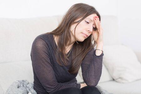 woman with headache photo