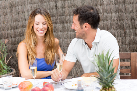 endearment: Middle-aged couple in love Stock Photo