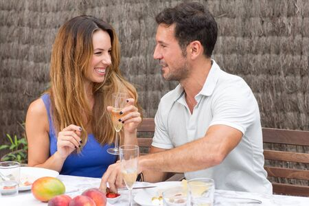 good time: Man and woman having a good time together Stock Photo