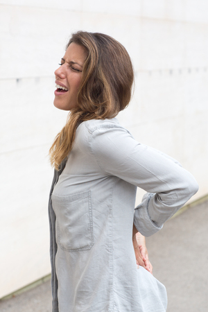 low back pain: Low back pain Stock Photo