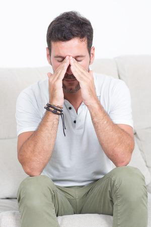 hangover: Man with hangover