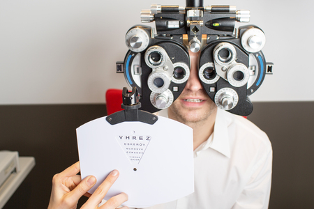 vision problems: eye exam