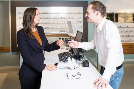 made to measure: Paying for eyeglasses at the opticians