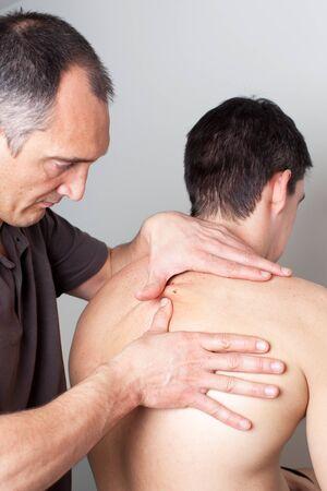 benign: Dermatology treatment at doctor Stock Photo