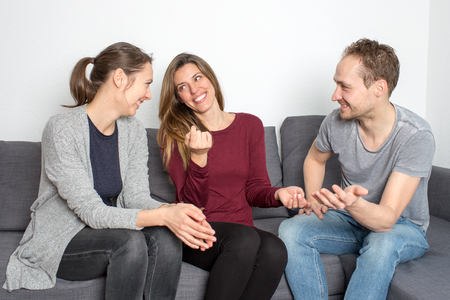 three friends: Three friends having fun Stock Photo