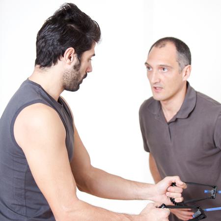 regularly: stretching biceps exercise
