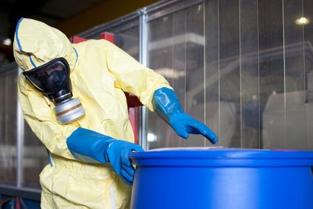 industria quimica: alarma de riesgo biológico Foto de archivo