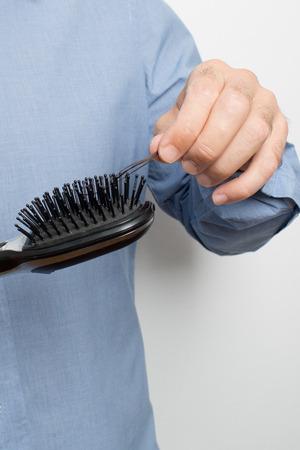 hairbrush: hair on hairbrush