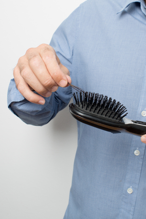 hair on hairbrush