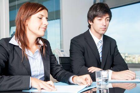 Businesspeople negotiate photo