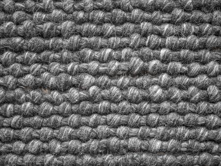 Close up of a wool carpet. Black and White texture. Modern design. Zdjęcie Seryjne - 87680111