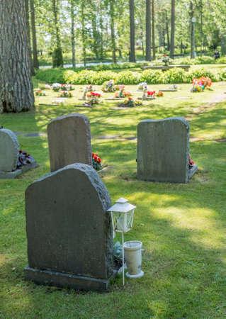 Graveyard in Sweden Zdjęcie Seryjne - 92209808