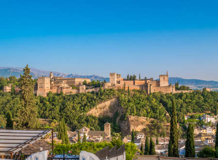Alhambra palace in Granada, Spain. Editorial