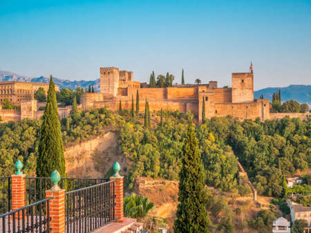 The Alhambra palace and fortness complex in Granada, Spain. Publikacyjne