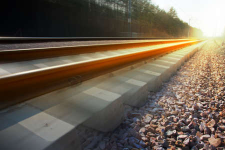 blurr: Blurred railroad in the country
