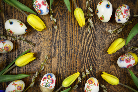 Easter decoration in decoupage style. Polish design
