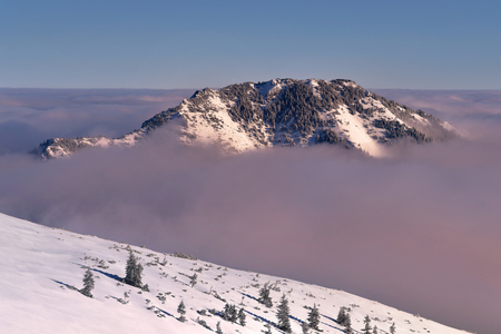 Winter wiev of Bobrowiec peak. Tatra mountain