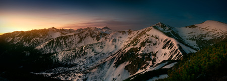 Panoramic view from Giewont peak to Kopa Kondracka peak. West Tatra mountain. Poland 版權商用圖片