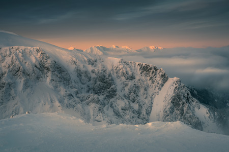 Stunning dawn in the western tatras. Tatra National Park