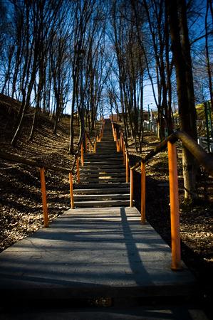 kaunas: steps parallel to the funicular aleksoto