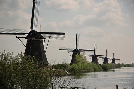 Windmills in the village of Kindedijk, near Rotterdam photo