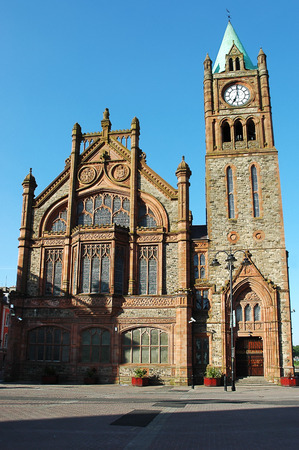 guildhall: The Guildhall in Derry: Town Hall of the city Stock Photo