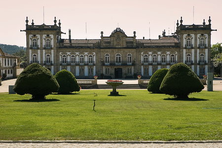 The Brejoeira Palace (Portuguese: Pal?cio da Brejoeira) is a palace in Mon??o, Portugal.Tha Palace was constructed in the 18th century according to a project from the architect Carlos Amarante.
